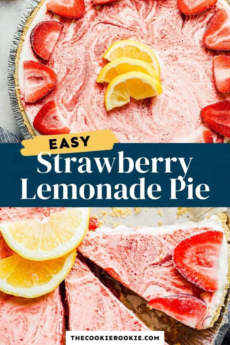 strawberry lemonade pie pinterest