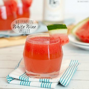 Watermelon White Wine Spritzer, fresh, delicious, easy, and fun! The Cookie Rookie