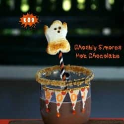 Ghostly S'mores Hot Chocolate, so FUN for Halloween! - The Cookie Rookie