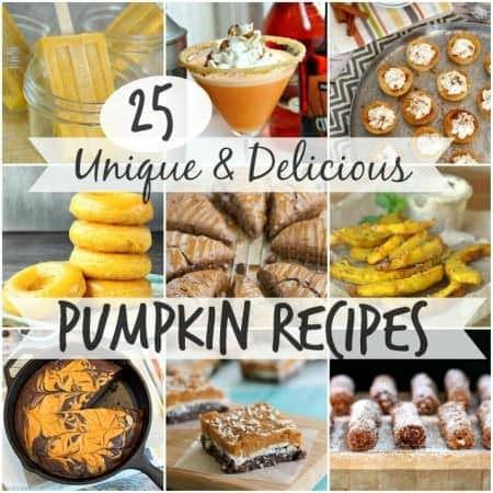 25 Unique and DELICIOUS Pumpkin Recipes