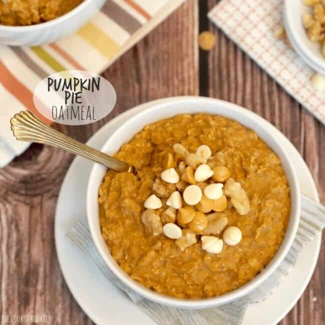 Pumpkin Pie Oatmeal! Healthy and delicious PERFECT breakfast for fall! - The Cookie Rookie