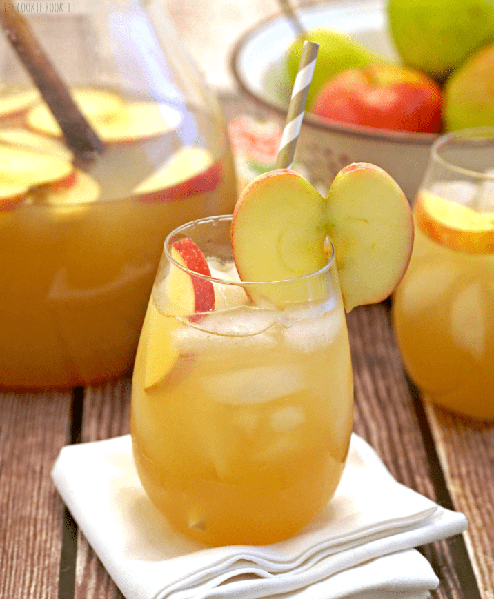 Apple pie punch the cookie rookie for Thanksgiving drinks alcoholic recipes