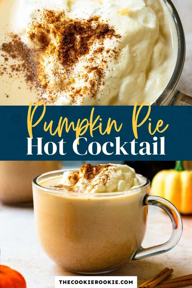 hot pumpkin pie cocktail pinterest