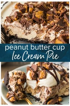 Peanut Butter Ice Cream Pie is an easy and delicious dessert! This Chocolate Peanut Butter Pie only needs 5 ingredients, and it feature everyone's favorite Peanut Butter Cups. This ice cream dessert will be a quick family favorite! Chocolate Peanut Butter Pie is my weakness. Making peanut butter ice cream cake at home has never been easier (or more delicious).
