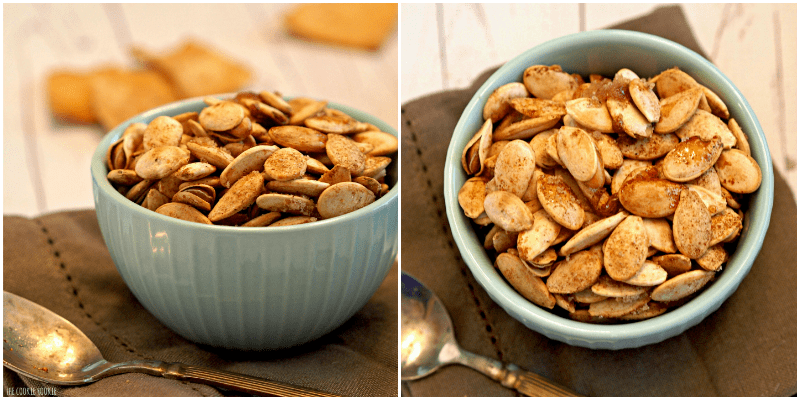 Pumpkin Pie Roasted Pumpkin Seeds! These are amazing!