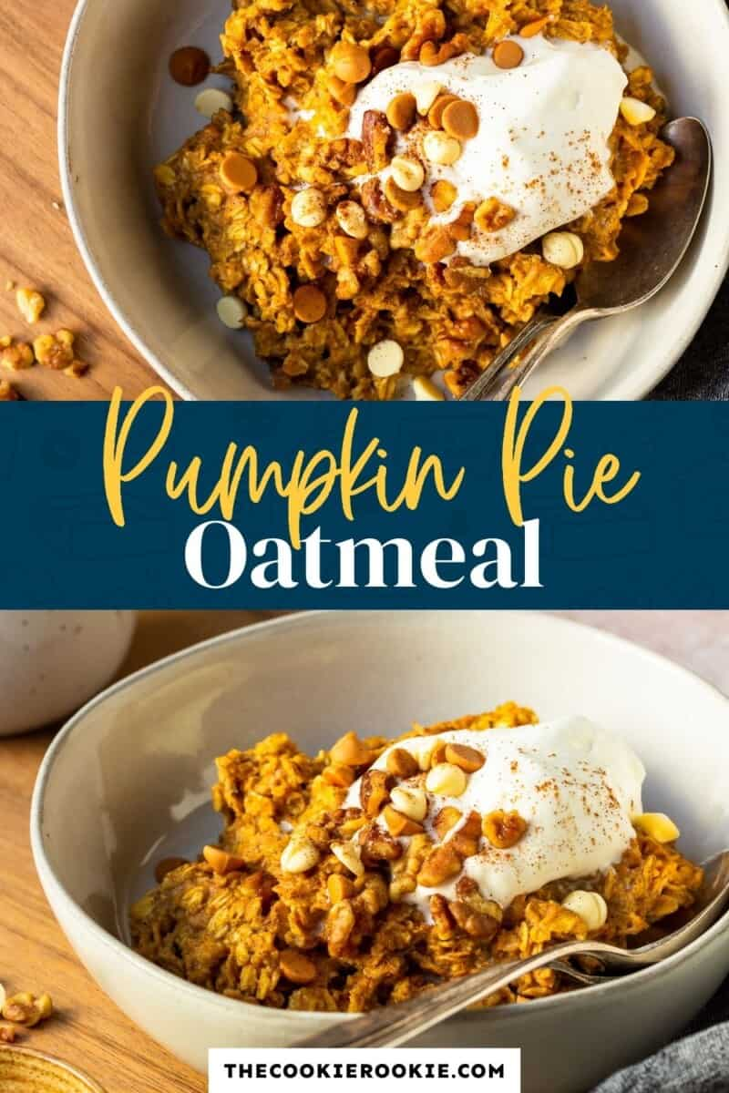 pumpkin pie oatmeal pinterest