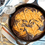 Pumpkin Pie Skillet Brownie
