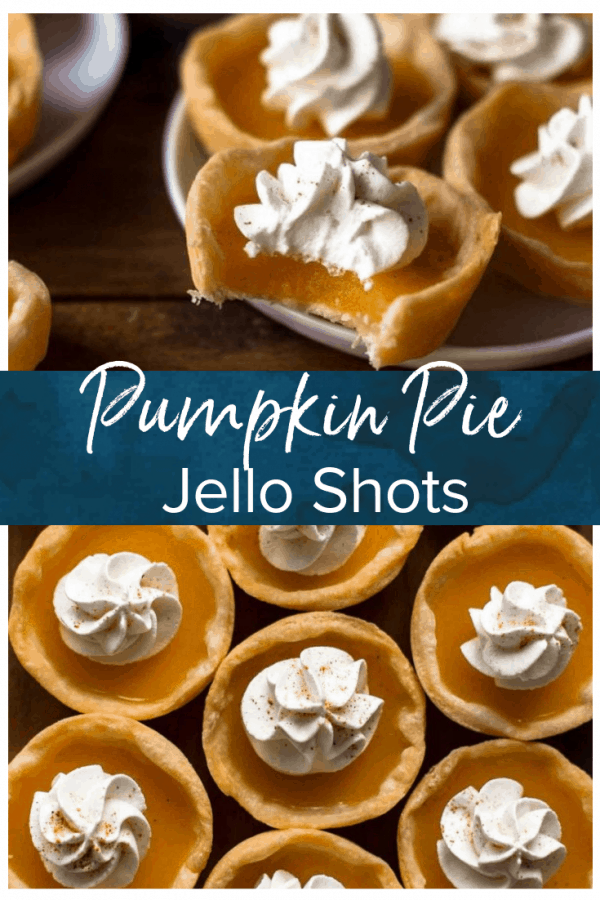This jello shot recipe is the BEST jello shots for fall! These Pumpkin Pie Shots are tasty, fun, and easy. This is one of my favorite jello shots ideas for fall because I love all things pumpkin. They make the perfect Thanksgiving or Halloween jello shots!