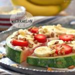 "Banana Cheesecake Watermelon ""Pizza"""