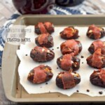 stuffed dates on a cookie sheet