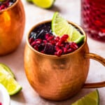featured pomegranate moscow mule
