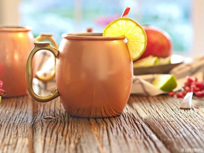 side shot of Pomegranate Moscow Mule