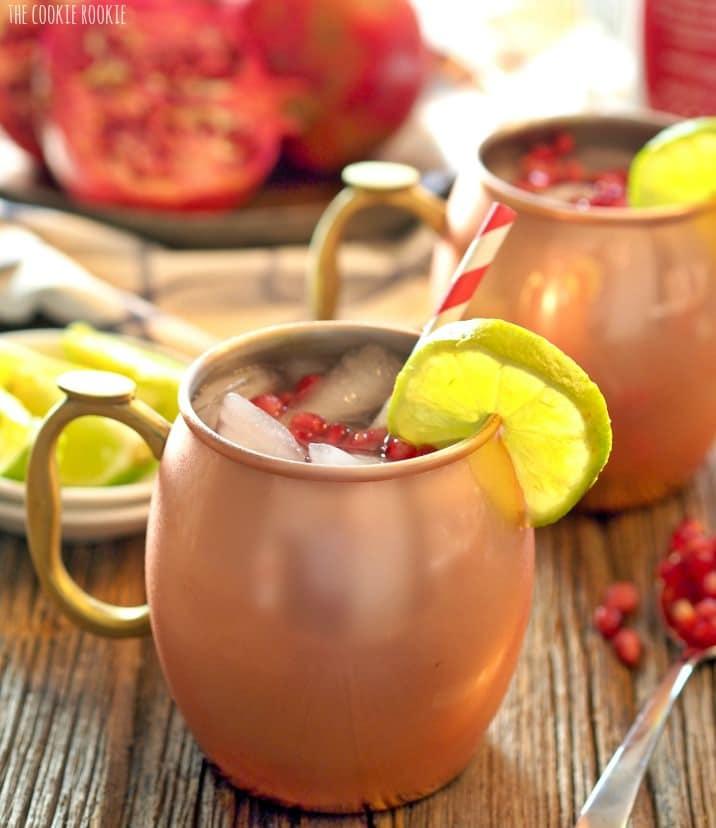 cocktail in copper mug