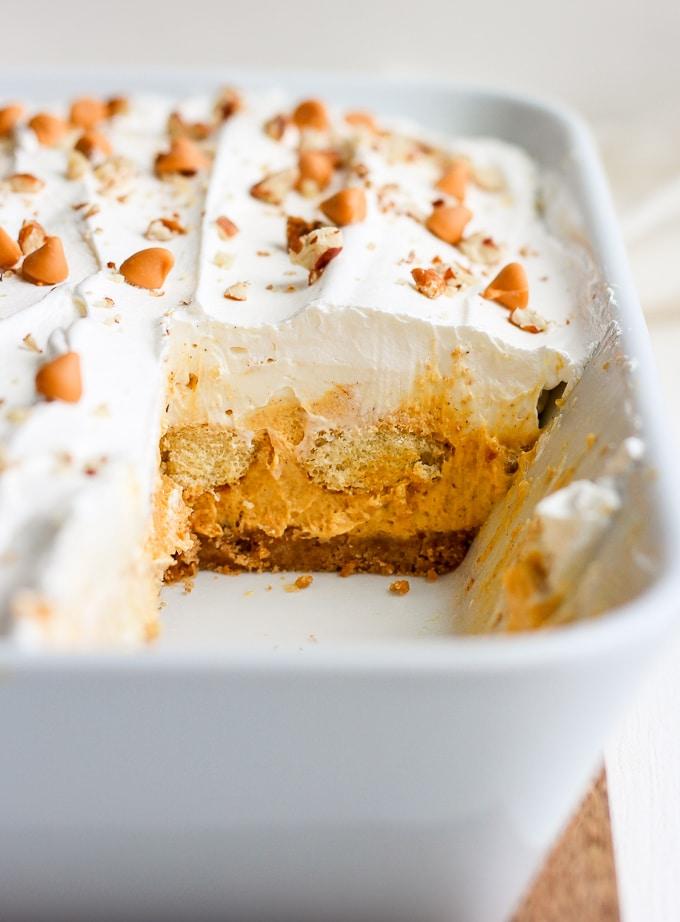 pumpkin pie dessert lasagna