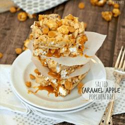 Salted Caramel Apple Popcorn Bars! AMAZING! Like Rice Crispie Treats but wayyy better. - The Cookie Rookie