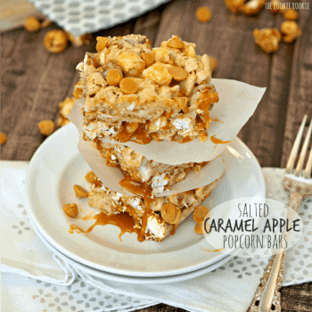 Salted Caramel Apple Popcorn Bars! AMAZING! Like Rice Crispie Treats but wayyy better. - The Cookie Rookie