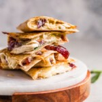 thanksgiving leftover quesadillas stacked