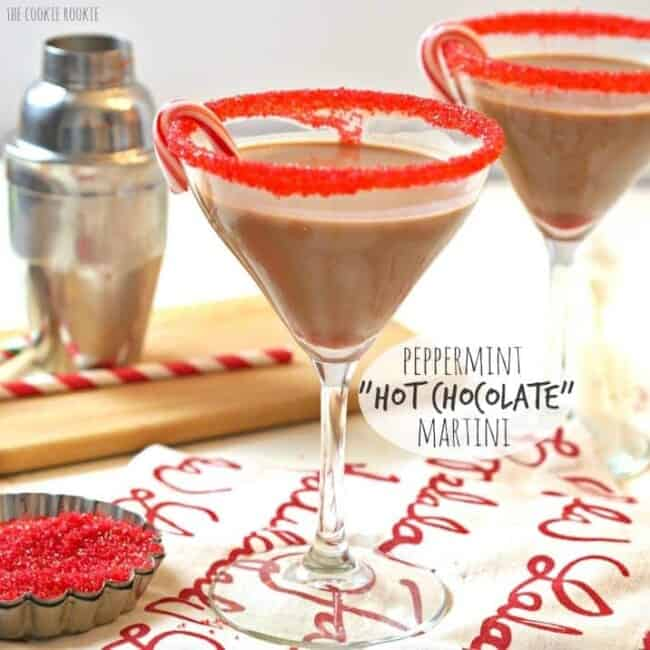 "Peppermint ""Hot Chocolate"" Martini, easy delicious and fun! Perfect for the holidays! 