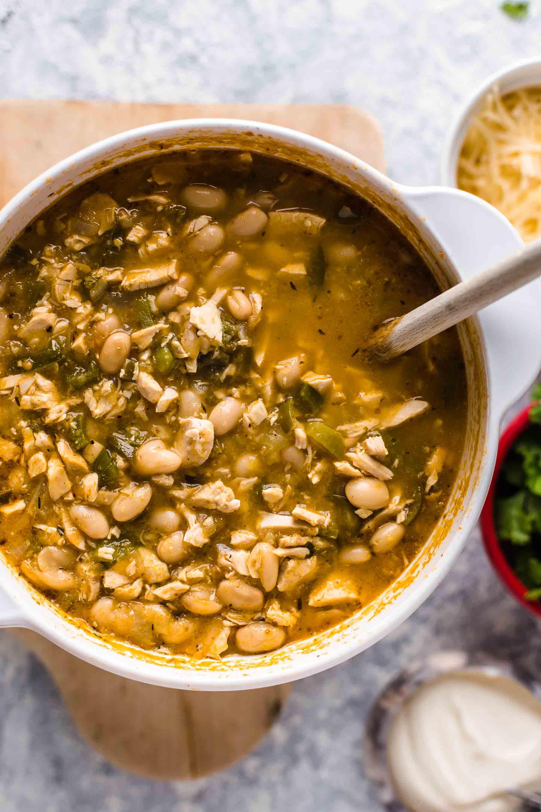 Spicy White Bean Chicken Chili Easy White Chicken Chili Video