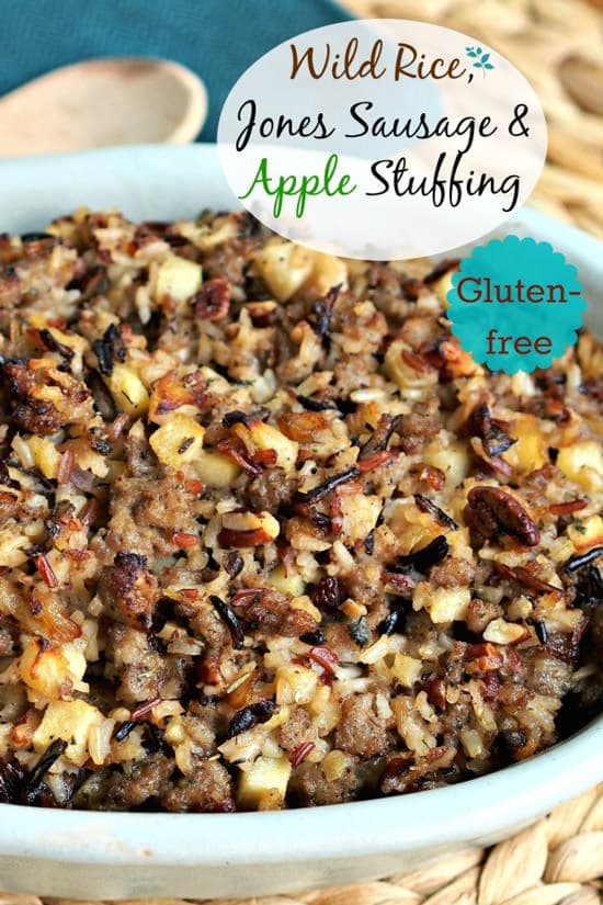 Wild Rice, Jones Sausage & Apple Stuffing | Simply Sated