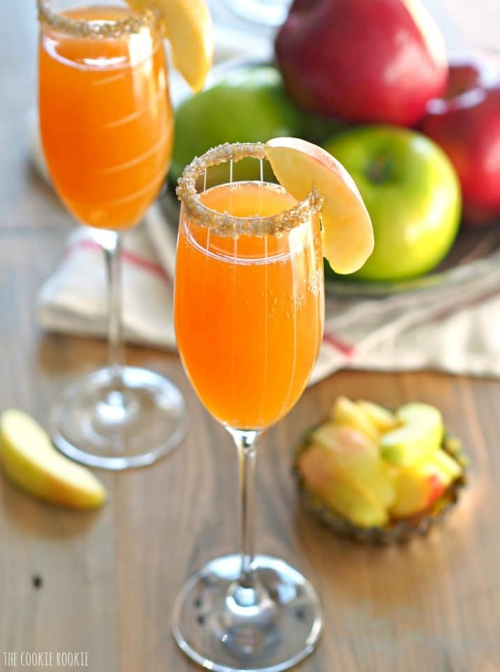 This Apple Cider Mimosa Recipe is simple, delicious and the perfect for Fall! You deserve such a fun and bubbly treat once in a while. Thanksgiving is the perfect time for an Apple Cider Cocktail, especially one as easy and tasty as this. If you've wondered how to make the perfect mimosa, this recipe is for you! I love a Mimosa, and this is my favorite Mimosa Recipe!