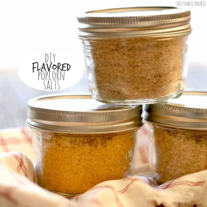 DIY Flavored Popcorn Salts! Fun Christmas gift idea. BACON PARMESAN, CHOCOLATE WINE AND