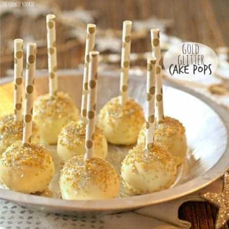 Gold Glitter Cake Pops (Lemon Cake Pops)