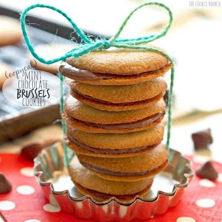 Copycat Mint Chocolate Brussels Cookies