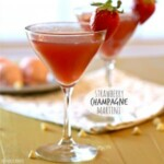 two strawberry martinis