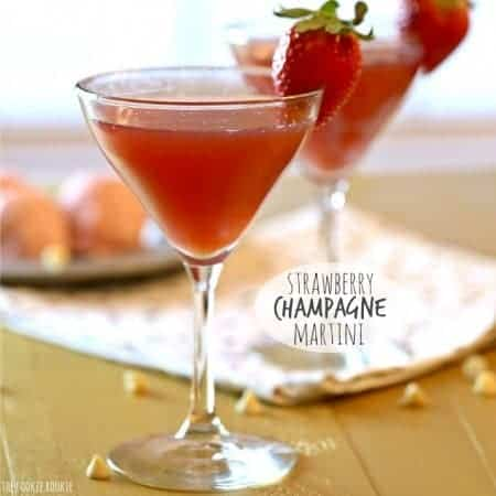 Strawberry Champagne Martini