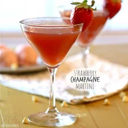 Strawberry Champagne Martini
