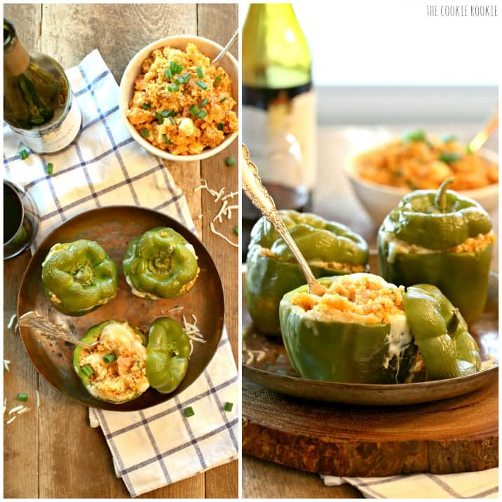Quinoa Hawaiian Pizza Stuffed Peppers are a healthy and delicious meal or side dish! AMAZING | The Cookie Rookie