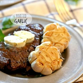 Roasted Garlic just like at the best steak restaurants! Perfect side dish! THIS IS DELICIOUS! | The Cookie Rookie