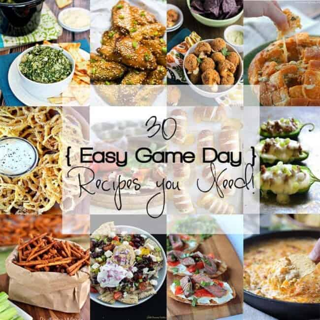 Easy game day recipes that you must put on your Superbowl menu! Everything from skinny crock pot dips to juicy teriyaki wings to buffalo sweet potato poppers.