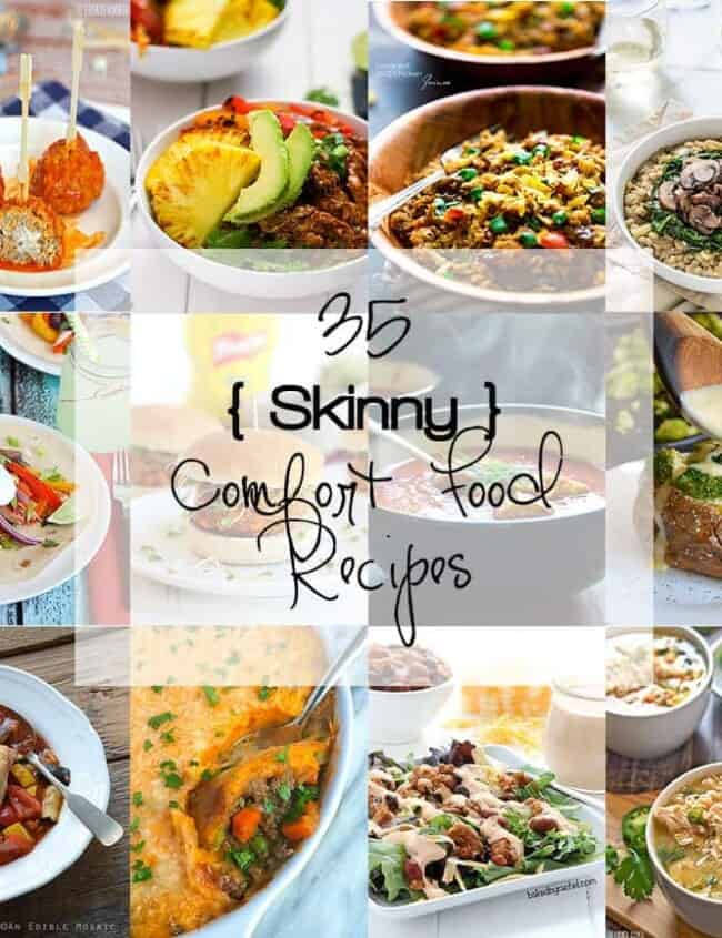 With the New Year and resolutions to eat better, let your tastebuds start to water with these Skinny Comfort Food Recipes!