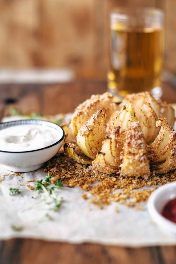Baked Blooming Onion Healthier Bloomin Onion Video