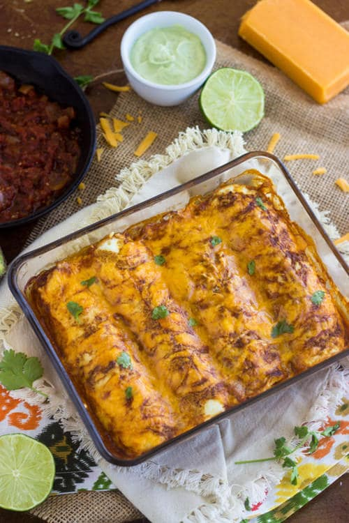 "SKINNY COMFORT FOOD RECIPES Healthy Chicken Enchilada Recipe with Egg White ""Tortilla 