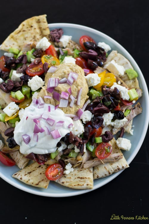 Mediterranean Nachos | Little Ferraro Kitchen