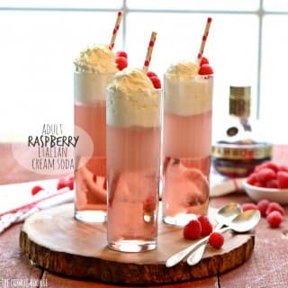 Adult Raspberry Italian Cream Soda