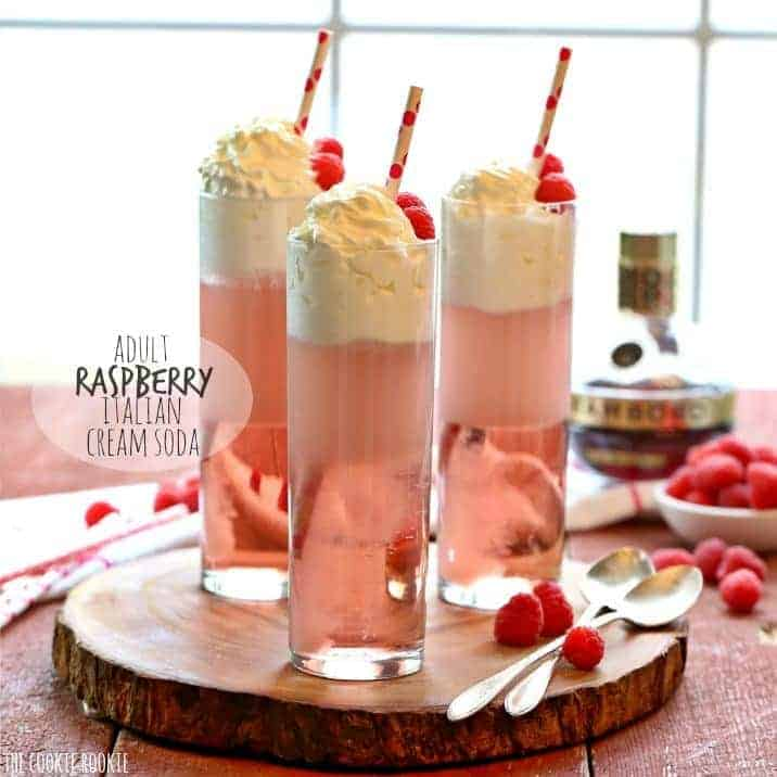 Adult Raspberry Italian Cream Soda
