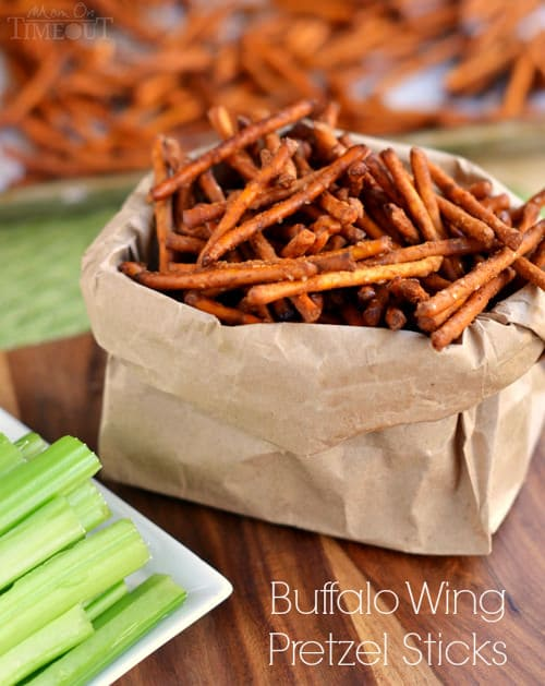Buffalo Wing Pretzel Sticks | Mom on Timeout