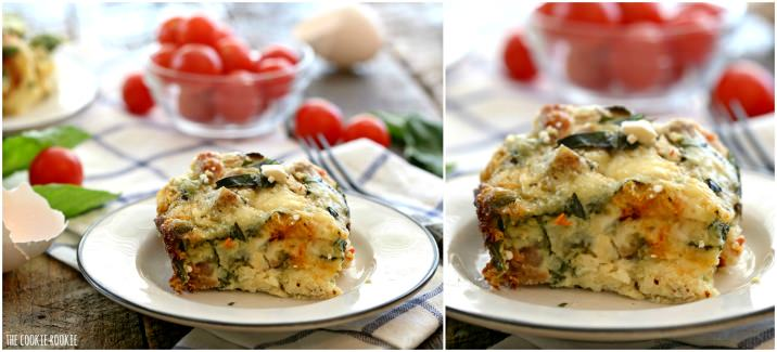 Crockpot Healthy Sausage Mediterranean Quiche, an easy and delicious breakfast or brunch! | The Cookie Rookie