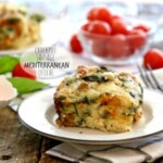 healthy sausage mediterranean quiche on a plate