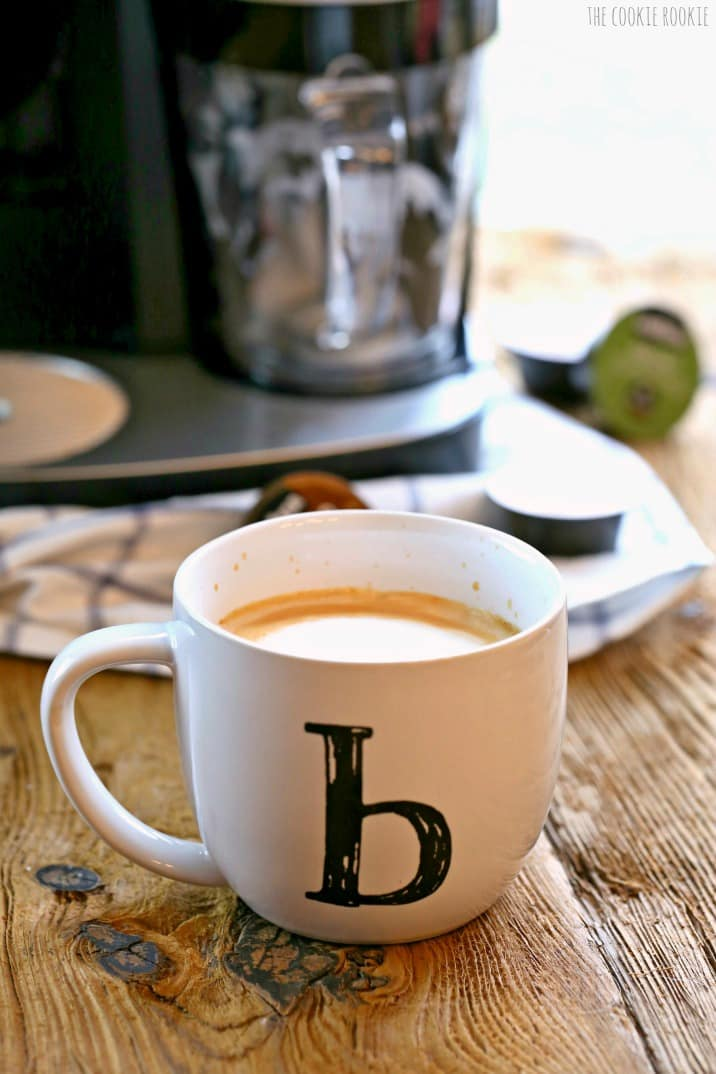 Easy Lattes made with Keurig Rivo Brewer. Delish!