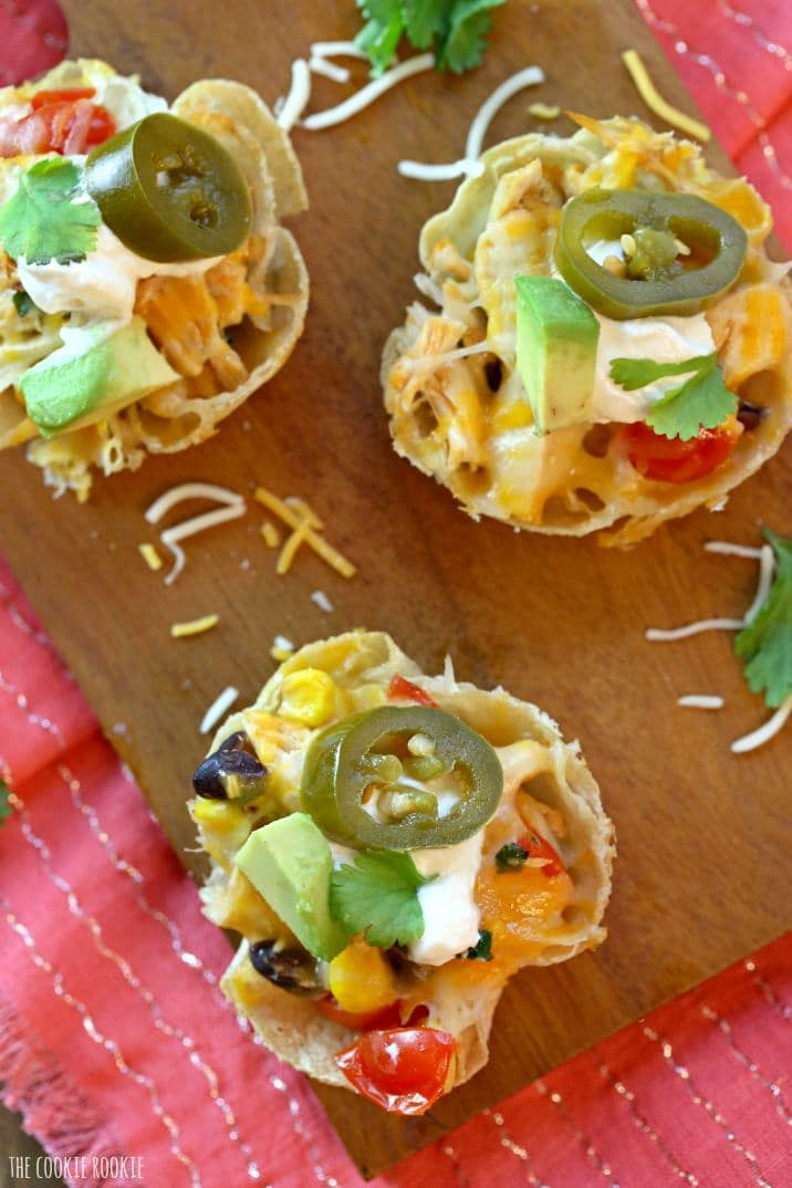 Loaded Chicken Taco Cups - The Cookie Rookie®