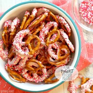 Pink Yogurt Covered Pretzels