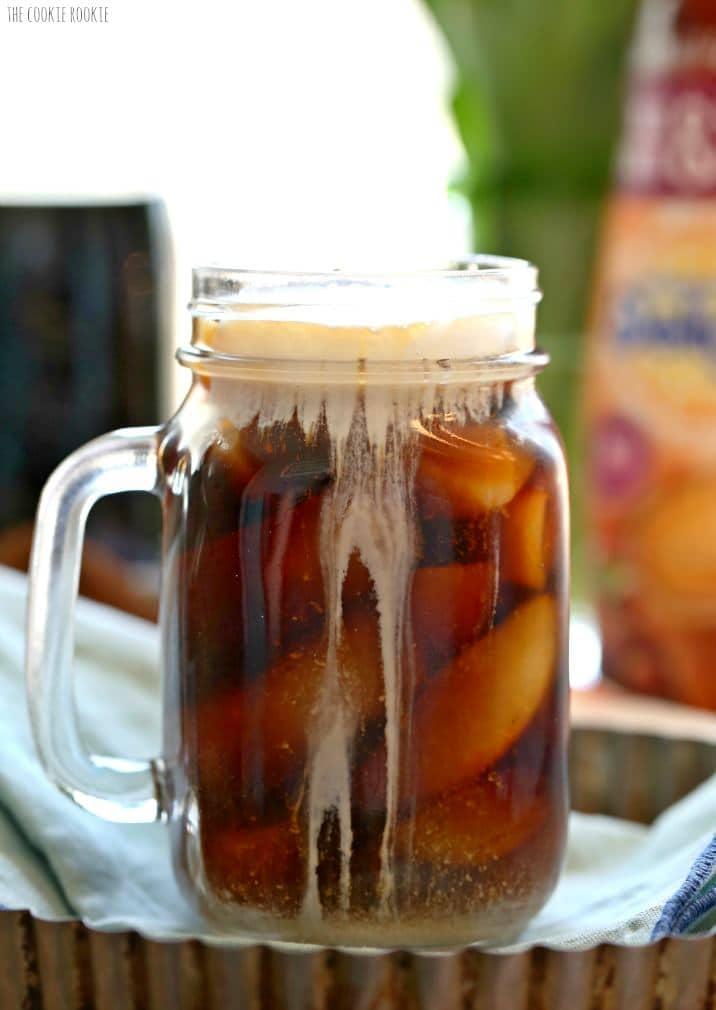 iced coffee on a table