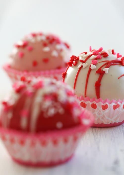 Valentine's Day Cake Balls | Skinny Taste