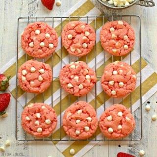 White Chocolate Chip Strawberry Cookies