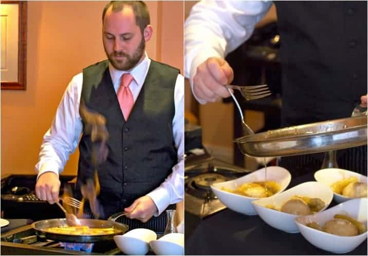 making bananas foster tableside at Brennan's in NOLA